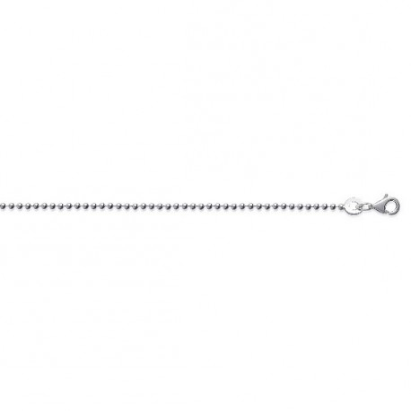 Chaine argent maille boules 1,5 mm